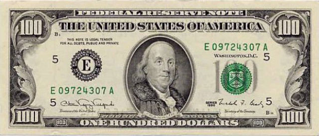 100 долларов США образца 1990 года