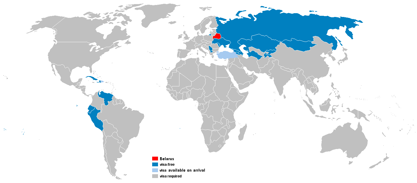 Безвизовые страны для граждан Белоруссии