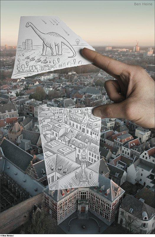 Бен Гейне (Ben Heine) - карандаш против камеры