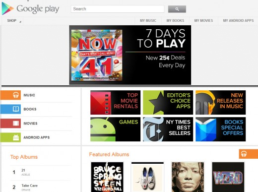 Google представила облачный сервис Google Play
