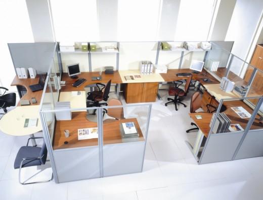 Офисные перегородки: виды, материалы