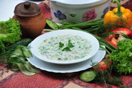 Окрошка - самый летний суп