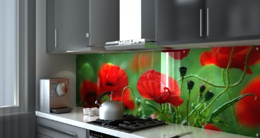 Защита кухонной стены