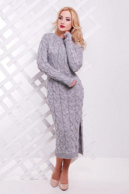 Красивые вязаные платья для поднятия настроения в холодное время года
