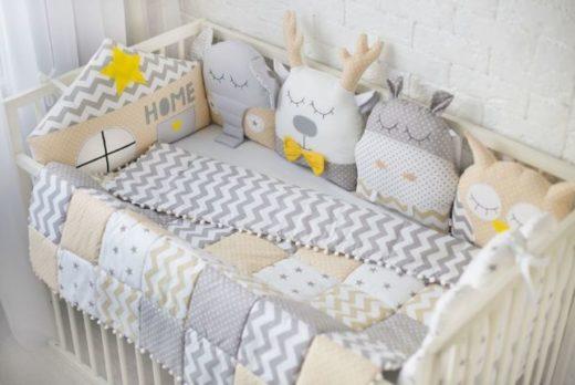 Бортики в детскую кроватку - безопасность и комфорт с пелёнок