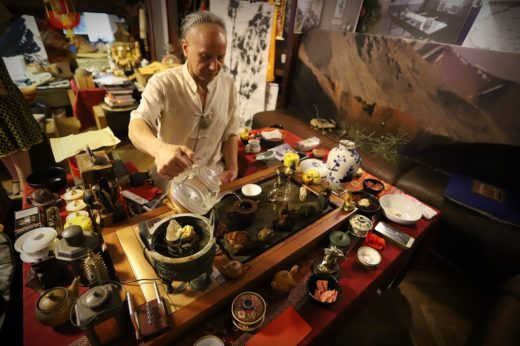 Чайная церемония, посвященная выставке китайского чая «Один пояс, один путь»