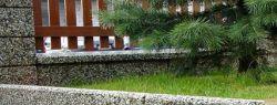 Архитектурный бетон и габионы в саду
