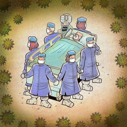 Врачи во время коронавируса