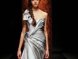Серебристые вечерние платья