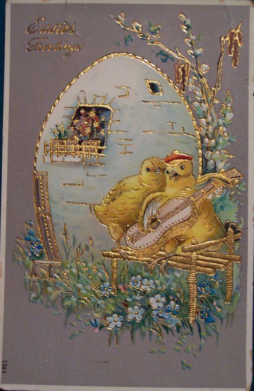 Коллекция винтажных пасхальных открыток