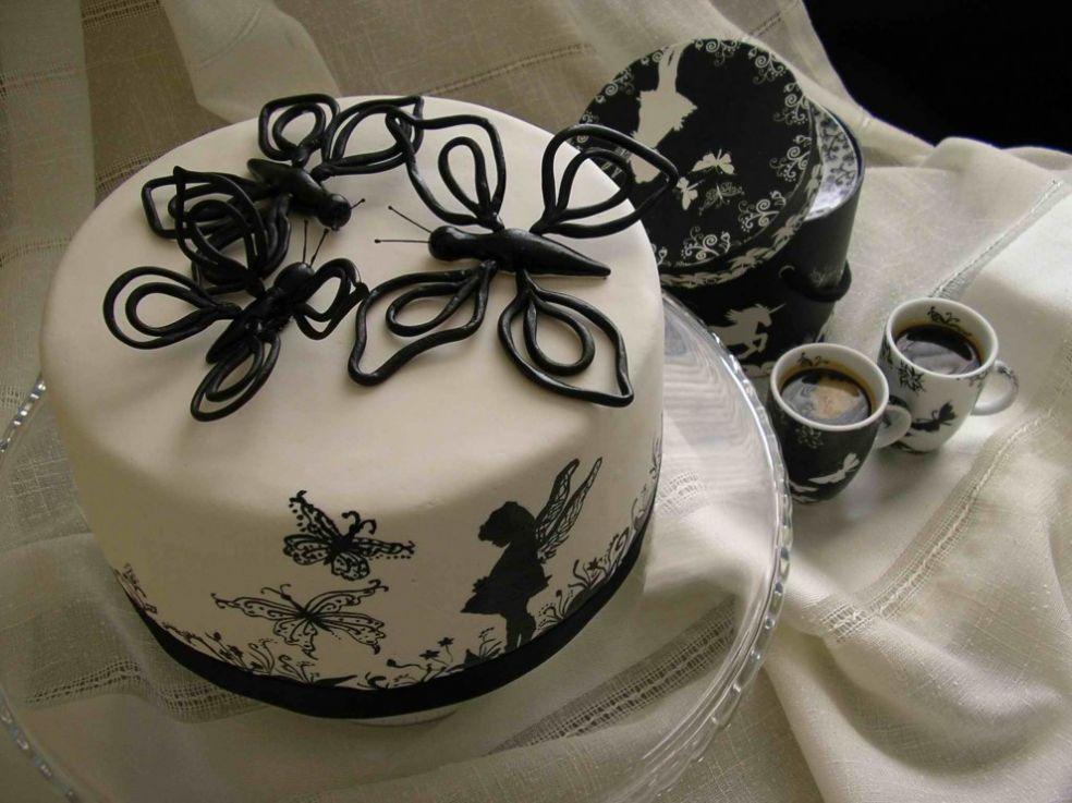 Черно-белый торт