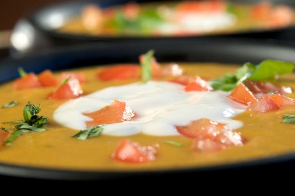 Пряный суп из батата