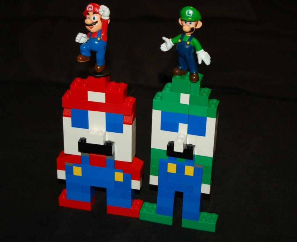 Лего-Марио и Лего-Луиджи