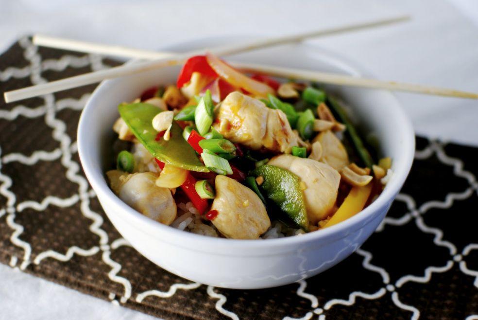 Пряное жаркое с цыпленком по-сычуаньски фото-рецепт