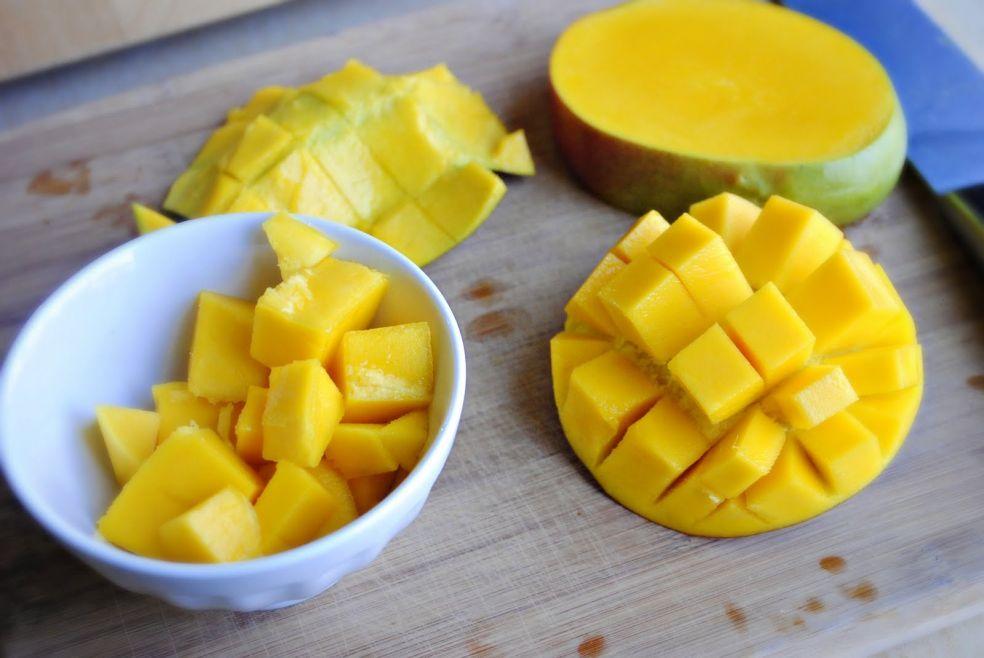 Как порезать манго фото-рецепт