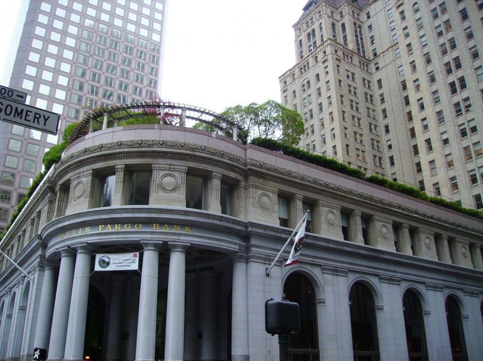 Зеленая крыша банка в Сан-Франциско