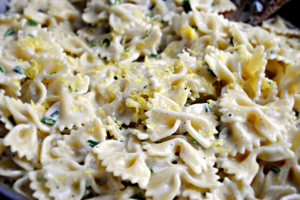Макароны в сметанном соусе фото-рецепт