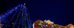 Американка спровоцировала пробки, украсив дом десятками тысяч рождественских огней (видео)