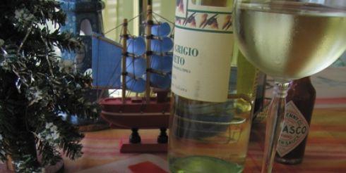 Новогодний стол: закуска Цукинни с креветками (фото)