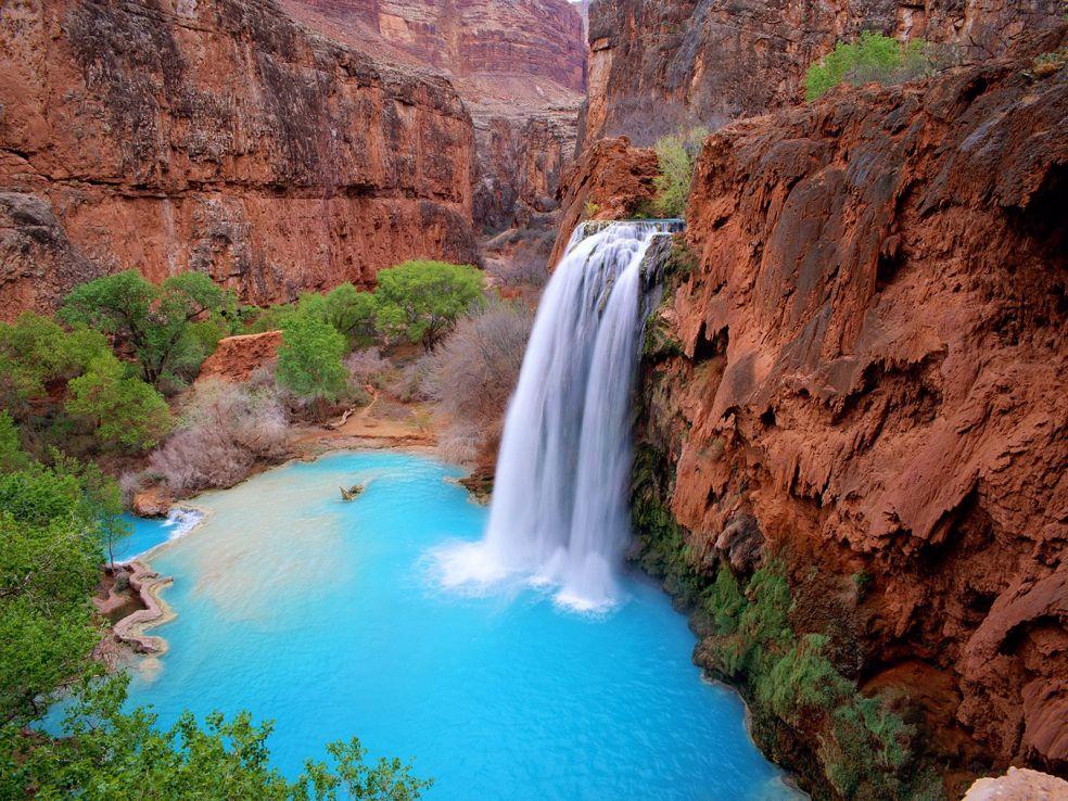 4. Водопад Хавасу, Супаи, Аризона