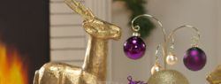 """Новогодняя сервировка стола — """"Золото и пурпур"""" (фото)"""